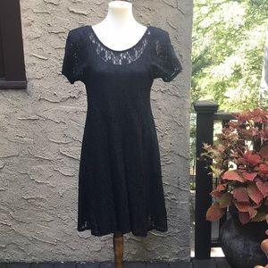 NWOT All that jazz flirty black lace dress